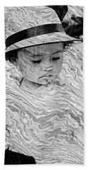 Beach Towel featuring the photograph Cuenca Kids 894 by Al Bourassa