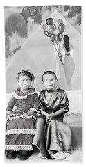 Beach Towel featuring the photograph Cuenca Kids 896 by Al Bourassa