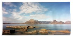 Beach Towel featuring the photograph Cuillin Mountain Range by Grant Glendinning
