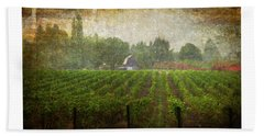 Beach Towel featuring the photograph Cultivating A Chardonnay by Jeffrey Jensen