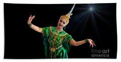 Cultural Thai Dance Beach Sheet