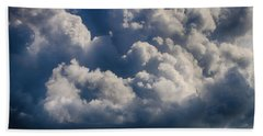 Beach Towel featuring the photograph Cumulus Over The River by William Selander
