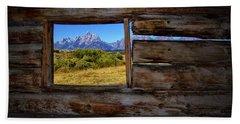 Cunningham Cabin Window View Beach Sheet