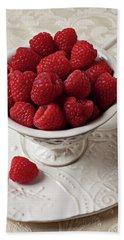 Cup Full Of Raspberries  Beach Sheet by Garry Gay