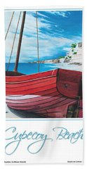 Cupecoy Beach Poster Beach Towel