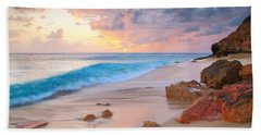 Cupecoy Beach Sunset Saint Maarten Beach Sheet