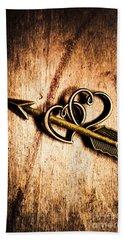 Cupid Arrow And Hearts Beach Towel