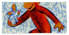 Curious George Beach Towel