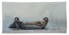 Beach Towel featuring the photograph Curious Onlookers by Robin-Lee Vieira