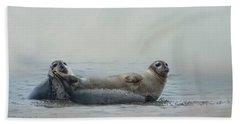 Curious Onlookers Beach Towel