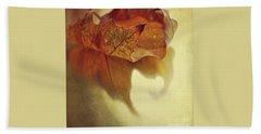 Curled Autumn Leaf Beach Towel by Lyn Randle