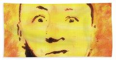 Curly Howard Three Stooges Pop Art Beach Towel