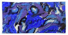Currents And Tides  Beach Sheet by Cathy Beharriell