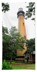 Currituck Beach Lighthouse Beach Sheet by Shelia Kempf