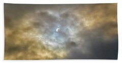 Curtain Of Clouds Eclipse Beach Towel
