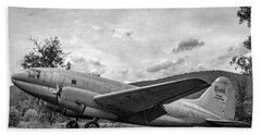 Curtiss C-46 Commando - Bw Beach Towel