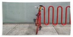 Curved Rack In Red - Urban Parking Stalls Beach Towel