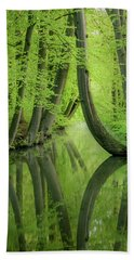 Curved Trees Beach Towel