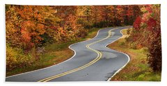 Curvy Road In The Mountains Beach Sheet