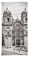 Cusco Cathedral Beach Towel by Darcy Michaelchuk