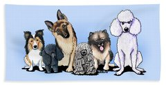 Custom Breed4ginnie Print Beach Towel