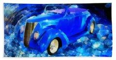 Custom Car  Beach Sheet by Joseph Hollingsworth