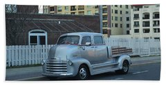 Beach Towel featuring the photograph Custom Chevy Asbury Park Nj by Terry DeLuco