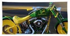 Custom Motorcycle Beach Towel
