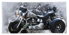 Customized Harley Davidson Beach Towel