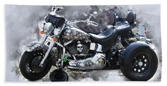 Customized Harley Davidson Beach Towel
