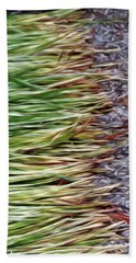 Cut Grass And Pebbles Beach Towel