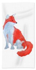 Cute Fox With Fluffy Tail Beach Towel