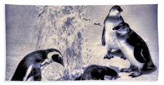 Beach Towel featuring the photograph Cute Penguins by Pennie  McCracken