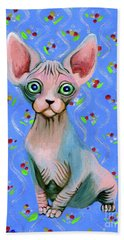 Cute Sphynx Beach Sheet