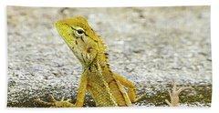 Cute Yellow Lizard Beach Sheet