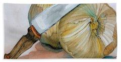 Cutting Onions Beach Towel