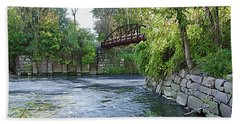 Cuyahoga River At Peninsula Beach Towel
