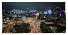 Beach Towel featuring the photograph Cyber City by Stewart Marsden