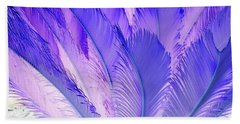 Purple Cycad Beach Towel