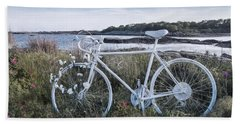 Cycle By The Sea Beach Towel