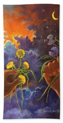 Cycle Of Life  Hands Ot Heaven Series Beach Towel by Randy Burns