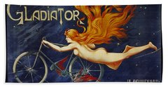 Cycles Gladiator  Vintage Cycling Poster Beach Towel