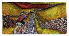 Beach Sheet featuring the painting Lancashire Lanes II by Mark Howard Jones