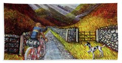 Beach Towel featuring the painting Lancashire Lanes 3 by Mark Howard Jones