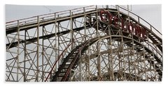 Cyclone Roller Coaster Coney Island Ny Beach Sheet