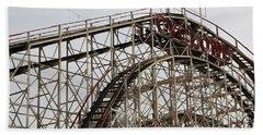 Cyclone Roller Coaster Coney Island Ny Beach Sheet