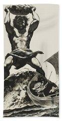 Cyclops Beach Towel by Angus McBride