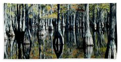 Cypress Reflections Beach Towel