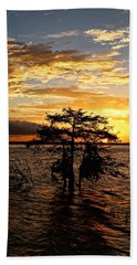Cypress Sunset Beach Sheet by Judy Vincent