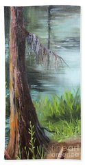 Cypress Up Close Beach Towel